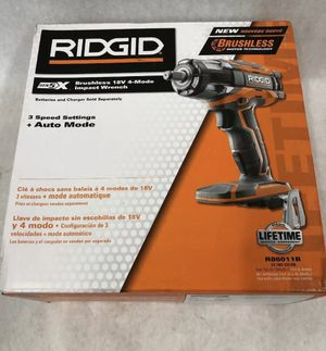 Ridgid (R86011B) 18V GEN5X Brushless Impact Wrench Tool Only New In Box for Sale in St. Petersburg, FL