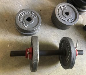 Dumb Bell with weights 42 lbs for Sale in Fort Washington, MD