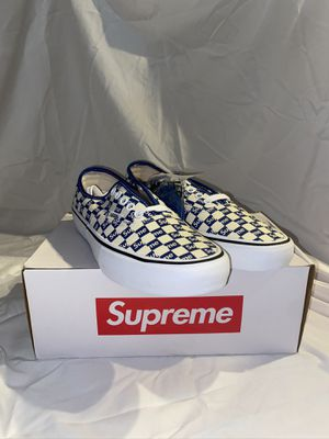 Vans x Supreme Blue Checkered RARE BRAND NEW Sz 8.5 for Sale in Beverly Hills, CA