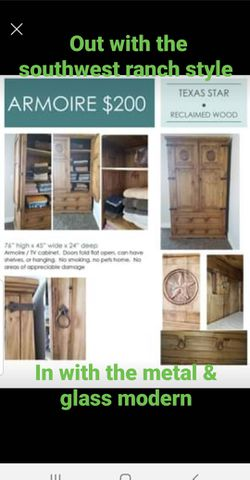 Handmade reclaimed wood wardrobe for Sale in Las Vegas,  NV