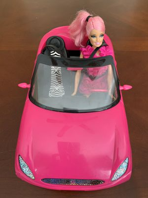 Barbie Pink Glam Car and Barbie Doll for Sale in Kennesaw, GA