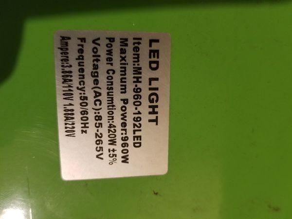 Marshydro reflector 960 watt LED grow light