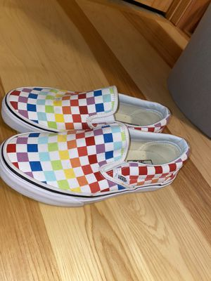Size 8 Women Vans Rainbow Slip-ons for Sale in Candler, NC