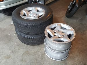 Size 16 Tundra/Sequioa wheels with 2 new tires for Sale in Edmonds, WA