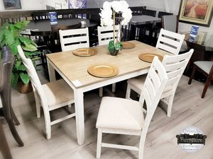 $549 DEAL!!! BRAND NEW ASHLEY FARM HOUSE STYLE 7PC DINING SET for Sale in Oviedo, FL