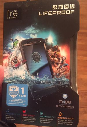 Fre lifeproof waterproof phone case for Droid Maxx 2 NEW for Sale in Detroit, MI