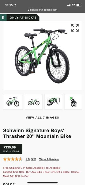 "Boys schwinn 20"" mountain bike for Sale in Rockville, MD"