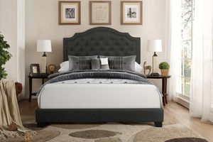 Dark Grey King Bed. New In Boxes. Mattress Set NOT included. for Sale in Montgomery, AL