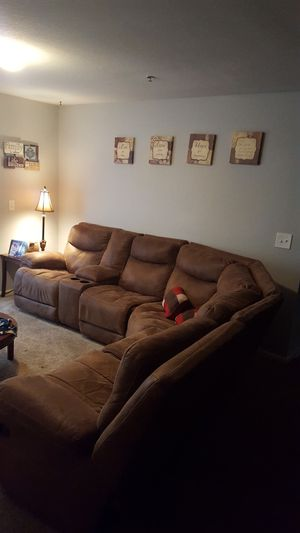 Leather 6 Piece Sectional Couch for Sale in Nashville, TN