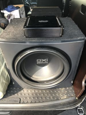 """Car audio 10"""" & 12"""" subs and amps! for Sale in Traverse City, MI"""