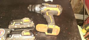 Rigid gen. 5x hammer drill and 2 batteries for Sale in Nashville, IN