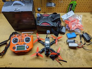 Eachine Wizard x220 Racing Drone with FPV Goggles and Extras! for Sale in Mesa, AZ