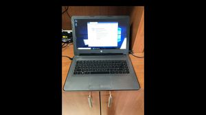 Hp notebook 14-an012nr laptop amd e2-7110apu 4gb tan 32gb hard drive for Sale in Hollywood, FL