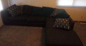 2 piece sectional couch will except certain trades but firm on price for Sale in Cortland, OH