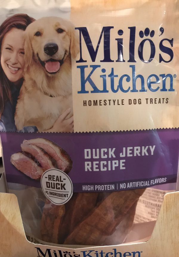 Duck Jerky for dogs by Milos Kitchen 5 pack