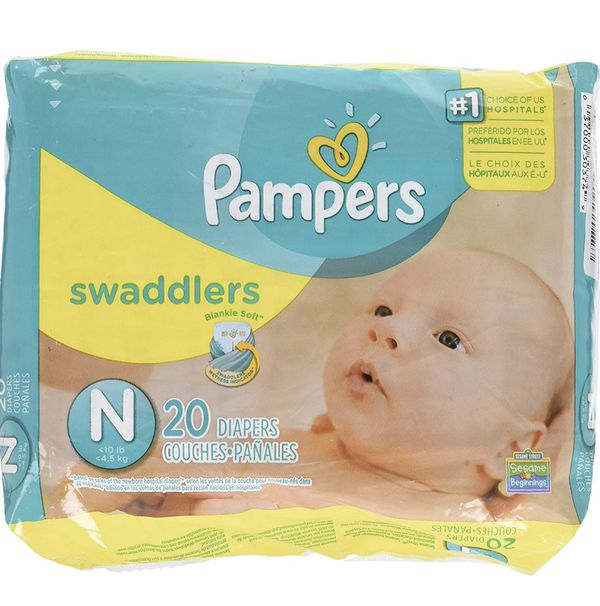 Pampers Swaddlers Newborn Diapers. Full box 240 count -$40