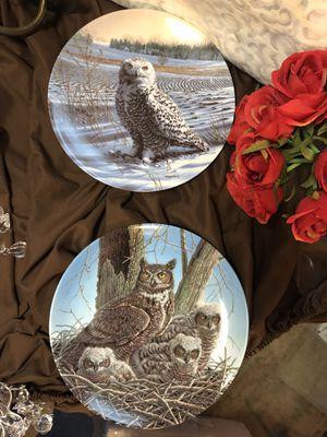 Owls porcelain plates Jim Beaudoin 1989 for Sale in Dallas, TX