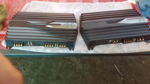 Sony xplod set of amps one for your bass and one for your highs for Sale in Madera, CA