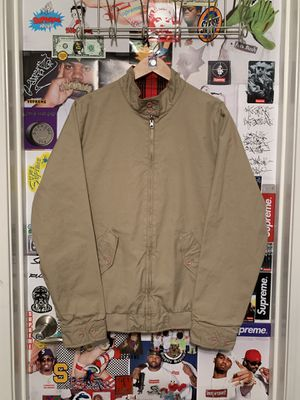Supreme Reversible Harrington Khaki Jacket SS10 Size Large $150 for Sale in Pittsburg, CA