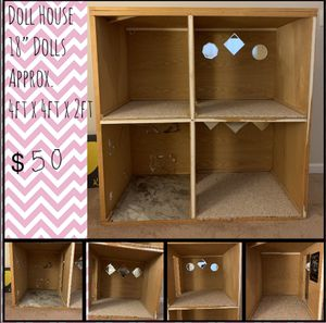 18in Doll House 4ft x 4ft x 2ft for Sale in Benicia, CA