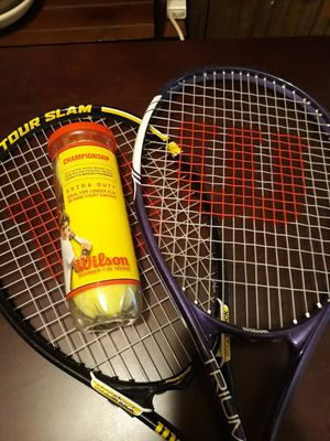 Wilson tennis rackets and tennis balls for Sale in Los Angeles, CA