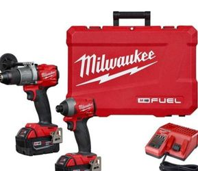 Milwaukee M18 FUEL 18-Volt Lithium-Ion Brushless Cordless Hammer Drill and Impact Driver Combo Kit (2-Tool) with Two 5Ah Batteries for Sale in Denver,  CO