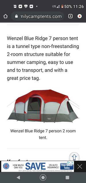 WENZEL 7 MAN TENT for Sale in Lincoln Acres, CA