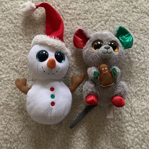 TY Beanie Boos Christmas Snowman and Mouse for Sale in Upper Marlboro, MD