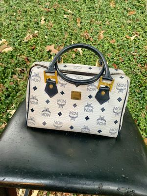 Authentic Vintage MCM white and blue boston bag for Sale in Jackson, MS
