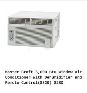 Master craft 6000 btu air Conditioner with remote for Sale in Moonachie, NJ