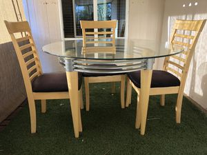 Glass Table and Chairs for Sale in Apache Junction, AZ