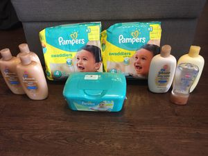 Pampers Baby Bundle size 4 for Sale in The Colony, TX