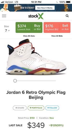 Jordan 6 Retro Olympic Flag Beijing Size 7 for Sale in Centreville, VA