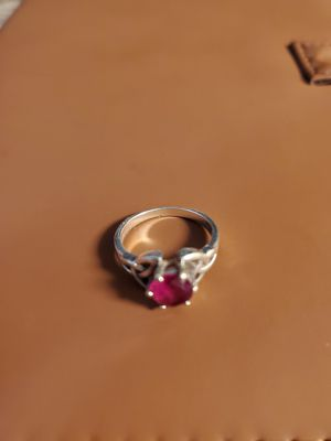 Size 6 sterling silver ruby for Sale in Evergreen, CO