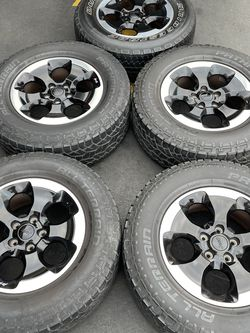 "(5) 18"" Jeep Wrangler Rubicon Wheels 275/65R18 Pathfinder Tires for Sale in Santa Ana,  CA"