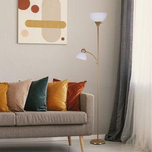 Gold 72 Inch Floor Lamp Reading Light Metal Uplight Stand Living Room Bedroom for Sale in Houston, TX