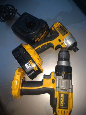 DeWalt drill and impact driver 18 volt for Sale in Tacoma, WA