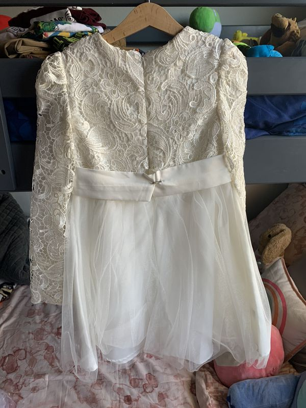 Girls Baptism/Wedding Ivory Lace Dress