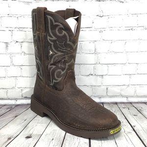 Justin Original Stampede Steel Toe Work Boots WK4311 Size 10 D Brown NWB 🧰 🔨 for Sale in Surprise, AZ