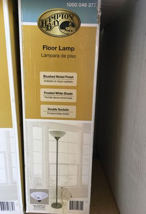 Hampton Bay Brushed Nickel Finish Floor Lamp for Sale in North Las Vegas, NV