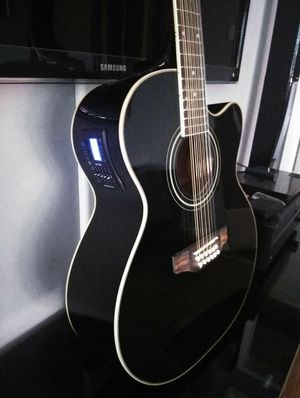 New Black 12 String Acoustic Electric Guitar Combo with Gig Bag and Accessories 🎸 Guitarra 12 Cuerdas Electrica Acústica Combo for Sale in South Gate, CA