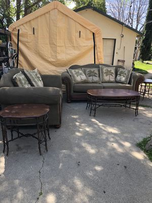 Sofa, Loveseat, & 3 Piece Table Set! for Sale in Rancho Cucamonga, CA
