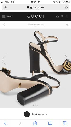 Gucci Black leather sandal 👡 for Sale in New Orleans, LA