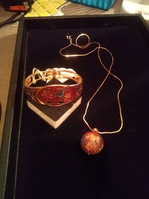 Vintage cloisonne necklace & bracelet for Sale in Northumberland, PA
