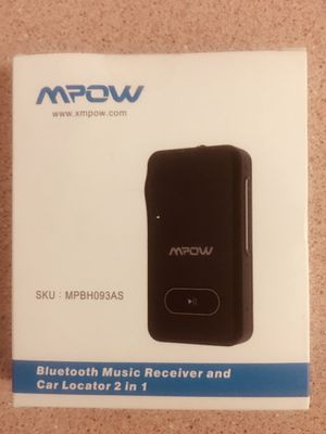 Bluetooth Music receiver and car locator2 in 1 for Sale in Clearwater, FL