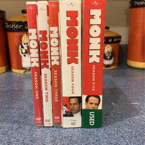 Monk DVD Seasons 1-5 for Sale in Fairfax, VA
