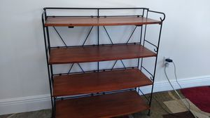 Bookshelf wrought iron and wood for Sale in Vero Beach, FL