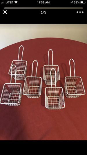 6 stainless mini fryer baskets. for Sale in Mechanicsburg, PA