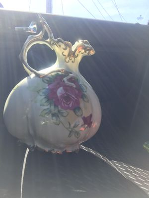 Ceramic hand painted rose Gilded Pitcher for Sale in New Haven, CT