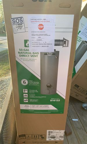 50 gal gas direct vent water heaters Brand new for Sale in Durham, NC
